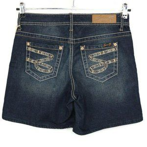 Seven7 Jean Shorts Distressed Stretch 4